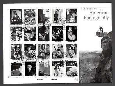 Masters of American Photography 2002 Sheet of 20 SC #3649 - USED CTO