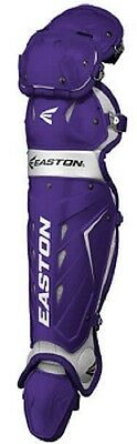 1 Pr Easton Force Purple Intermediate Catcher's Leg Guards Typically Fits 13-15