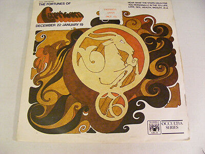 THE FORTUNES OF CAPRICORN Astrology Record Ex UK 1960s LP