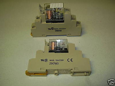 Omron Relay G2R-1-SN 230Vac 10A 5 Pin Complete with Din rail base