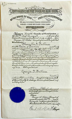 Vintage 1928 Last Will And Testament ~ Westchester County, New York