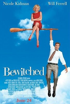 Bewitched movie poster : Nicole Kidman, Will Ferrell : 11 x 17 inches