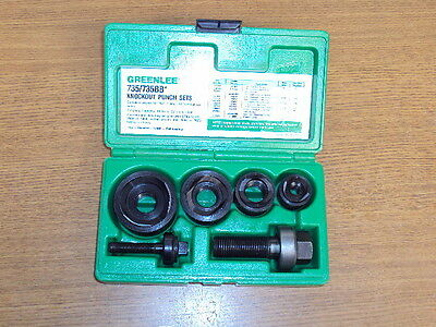 "NEW GREENLEE No. 735BB STANDARD KNOCKOUT PUNCH SET 1/2"" 3/4"" 1"" & 1-1/4"""