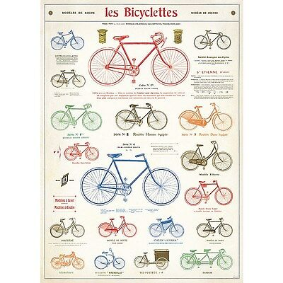 LES BICYCLETTES ~ VINTAGE STYLE FRENCH AD ~ 20x28 FINE ART POSTER ~ BICYCLE