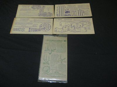 Vintage 1940s Nabisco Shredded Wheat Toytown Carnival Cards Lot 4,Indian Candle