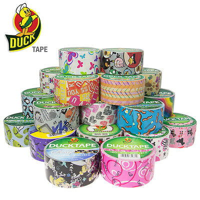 25 Rolls Colored Duck Duct Tape Pack Print Pattern DIY Art Craft Projects 250yds