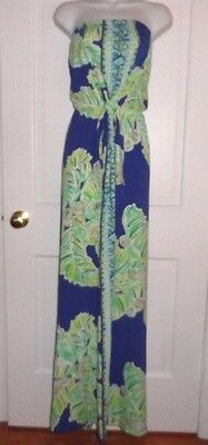 f68919e3b8f4 Nwt Lilly Pulitzer Iris Blue Latitude Rosalina Maxi Dress L Xl Runs Large