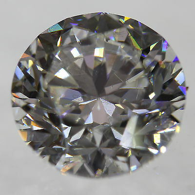 Certified 2.02 Carat G VS1 Round Brilliant Natural Enhanced Loose Diamond 7.75mm