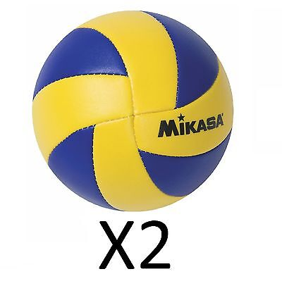 Mikasa Mini Volleyball '12 Olympic Replica Game Ball 6 1.5 Soft Stitched (2Pack)
