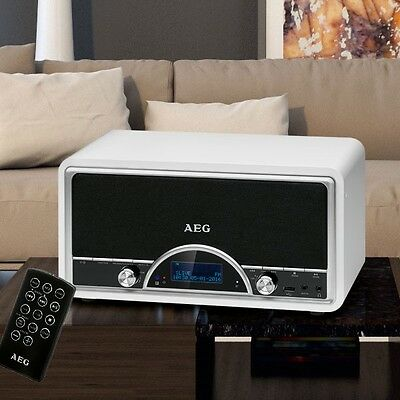 Retro Stereo Anlage UKW DAB+ Radio Bluetooth USB Musik Fernbedienung LCD Display