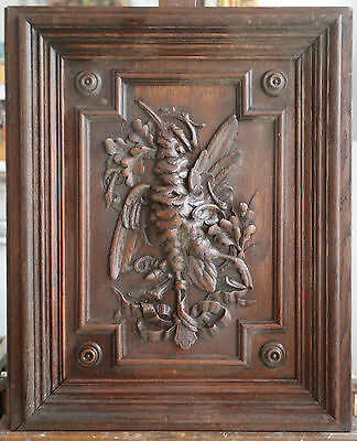 Two French Sculpted Buffet Doors. C. 1900 Fine Quality Of Sculpture.