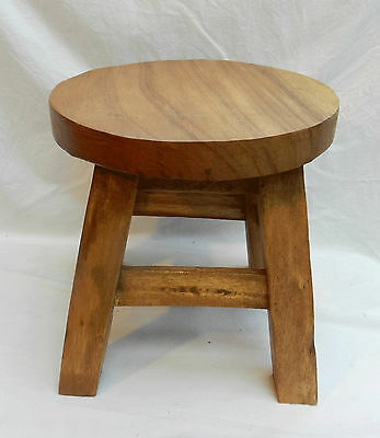 Chunky Solid Wooden Child's Stool x Seven - NEW