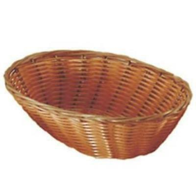 "Pack Of 2 Update International Woven Bread Baskets 9.5"" Oval Natural Durable New"