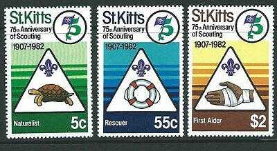 St.kitts Sg101/3 1982 Scouts   Mnh
