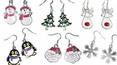 Christmas Earrings Frozen Snowflake Tree Rudolph  Santa Snowman Stocking Filler