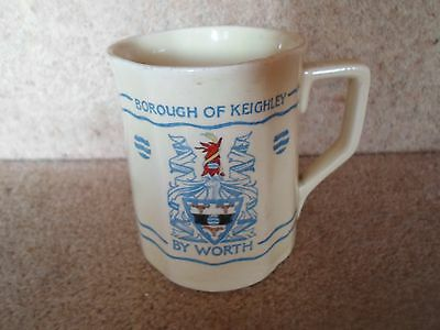 RARE Adams Pottery Rd. 775131 Mug Borough of Keighley By Worth Jubilee 1882-1932