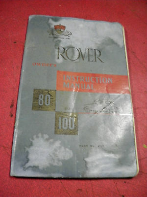Rover P4 80 & 100  Owner's Instruction Manual