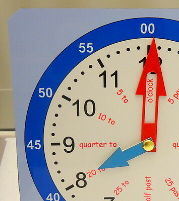 Educational children's tell the time teaching and learning clock - 2 sizes