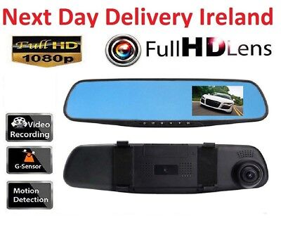 2.7Inch 1080P LCD Screen Car Camera Dash Cam Video Recorder Rear view Mirror DVR