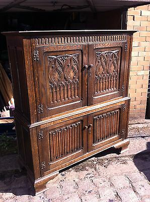 Large Antique Oak Court Cupboard Jacobean Style