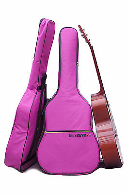 Purple Coloured Guitar Case Gig Bag for Acoustic and Classical Guitars,