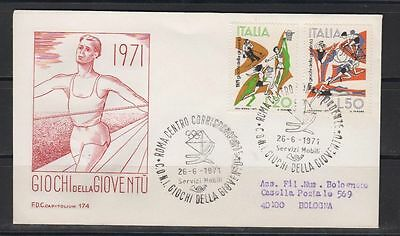 Italien FDC Mi 1341-1342 Radsport Basketball etc.