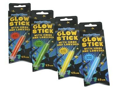 X 4 Party Time  Glow Sticks With Hook And Lanyard - Festival Disco - Panto Gift