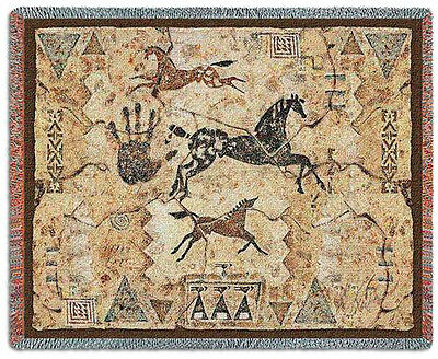 Throw Tapestry Afghan - Tlalocs Tribe 3884