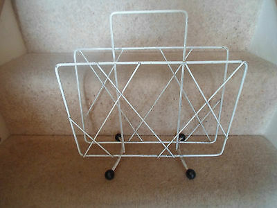 RETRO Magazine Rack Mag Rack Vintage Interior Design - Home Office Shop Prop #2