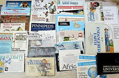 Lot 93 National Geographic Maps USA World Science Ecology Oceans VGC Homeschool