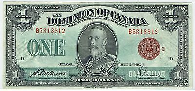 DOMINION OF CANADA 2.7.1923 $1.00 BRONZE SEAL GROUP 2 (DC-25i) CH VF+