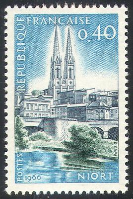 France 1966 Philatelic Congress/Niort/Cathedral/Buildings/Architecture 1v n41784
