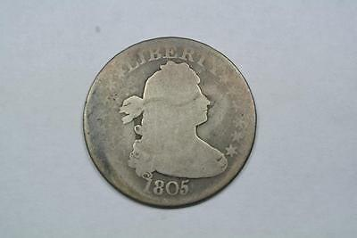 RARE COIN!!! 1805 Draped Bust Quarter, Nice AG Condition - C706