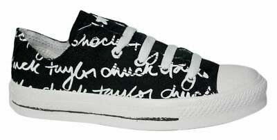 Converse Chuck Taylor All Star Sketched Ox Lo Top Unisex Trainers 100147F D1