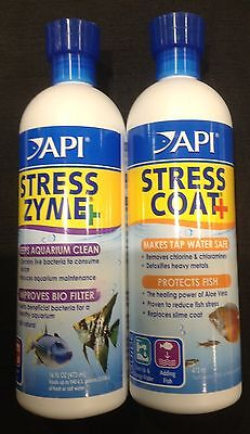 Api Stress coat and Stress Zyme Twin Pack 473ml