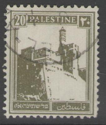 PALESTINE SG99 1927 20m DULL OLIVE-GREEN USED
