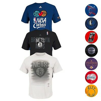 NBA Assortment of Various Team Graphic T-Shirt Collection by Adidas - Men's