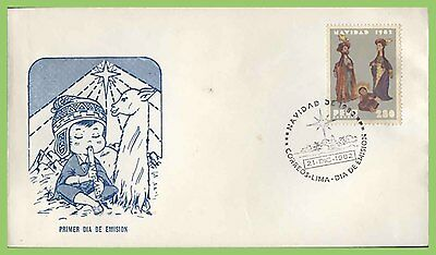 Peru 1982 Christmas issue on First Day Cover