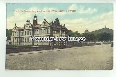 tp9653 - Lancs - The Victoria Secondary School & Hoad Hill, Ulverston - Postcard