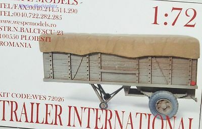 1:72 Trailer International Wespe Models 72026 Resin NEU OVP