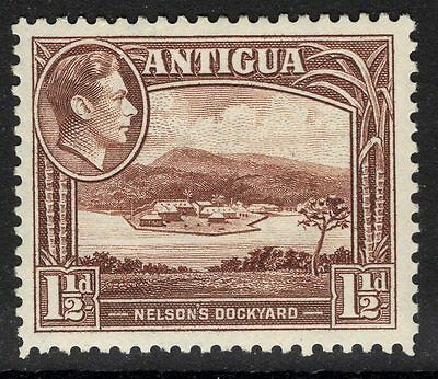 ANTIGUA SG100a 1943 1½d DULL REDDISH-BROWN MTD MINT