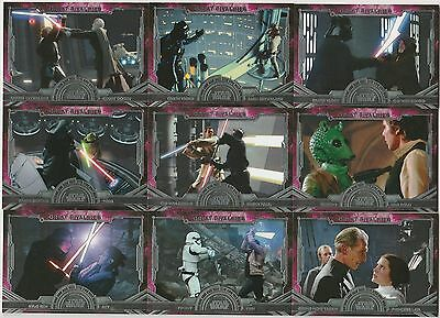 2016 Topps Star Wars Masterworks Great Rivalries Complete Set 1-10 Insert Card