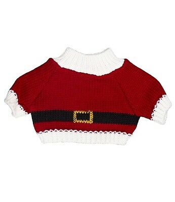 "Santa Claus Father Christmas sweater jumper teddy clothes fit 15"" build a bear"