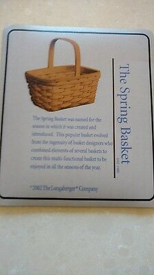 """Longaberger Mouse Pad, """"The Spring Basket"""", MINT condition, set of TWO!"""