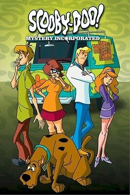 SCOOBY-DOO ~ MYSTERY INCORPORATED CAST 24x36 CARTOON POSTER  Shaggy Daphne Fred