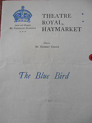 "PROGRAMME DE THÉÂTRE ROYAL HAYMARKET "" THE BLUE BIRD ""  (ref 40)"