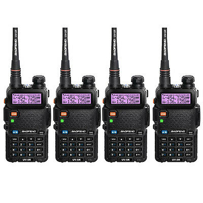 4pcs Baofeng UV-5R Dual-Band 136-174/400-520MHz Ham Two-way Radio In Spain