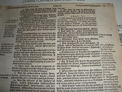 Very Rare ORIGINAL 1586 GENEVA Bible Leaf JEHOVAH Ex. 6:3  Watchtower research