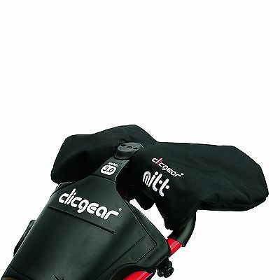 2016 Clicgear Winter Mitts Mens Golf Windproof Mittens Black One Size New