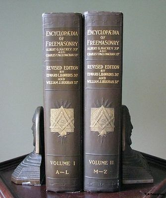 Encyclopedia of Freemasonry Vol. 1 & 2 - Antique Masonic Book c.1924 Mackey